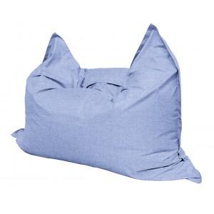 Кресло мешок Подушка Relax цвет Небесный (материал Рогожка)