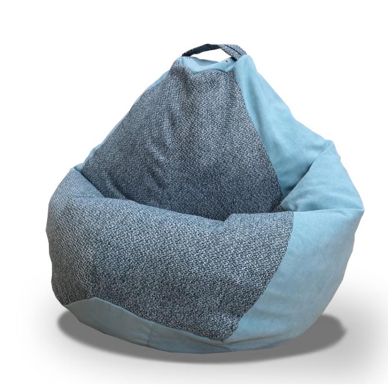 Кресло груша (велюр + рогожка)  XL
