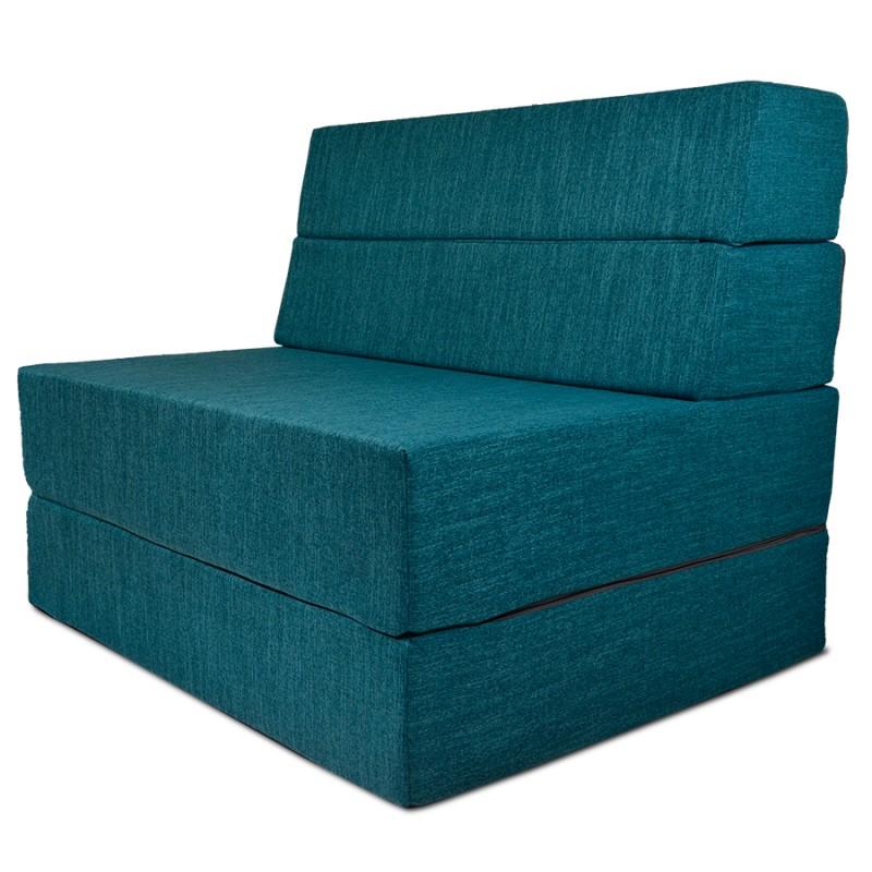 Бескаркасный диван 100х80х40, цвет бирюзовый, материал Рогожка, DKC, Puffmebel