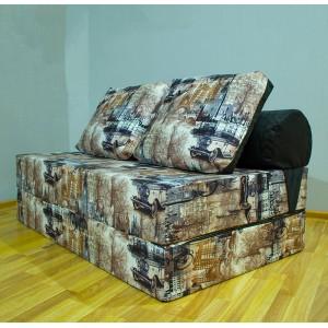 Бескаркасный диван 140х90х40см, цвет Париж, материал Велюр, Sofa Roll Long , Puffmebel