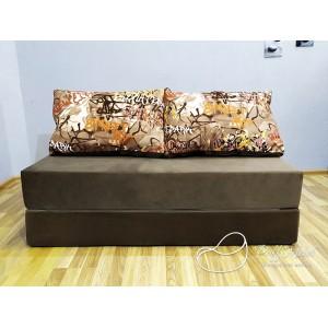 Диван трансформер Sofa Roll Long  Коричневый (Велюр)