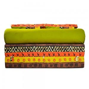 Бескаркасный Диван 140х90х40, цвет Африкан, материал Жаккард, Sofa Roll Long, Puffmebel