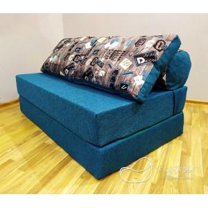 Диван трансформер Sofa Roll Long  Бирюзовый (Рогожка)