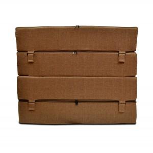 Бескаркасный диван 100х80х40, цвет ,бледно-коричневый, материал Рогожка, DKC, Puffmebel