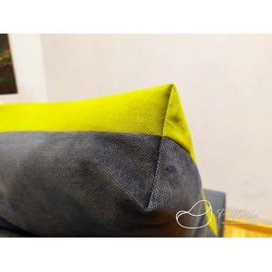 Диван трансформер цвет Серо-зеленый , материал Велюр