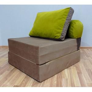 Диван-трансформер Sofa Roll  Бежево-коричневый велюр