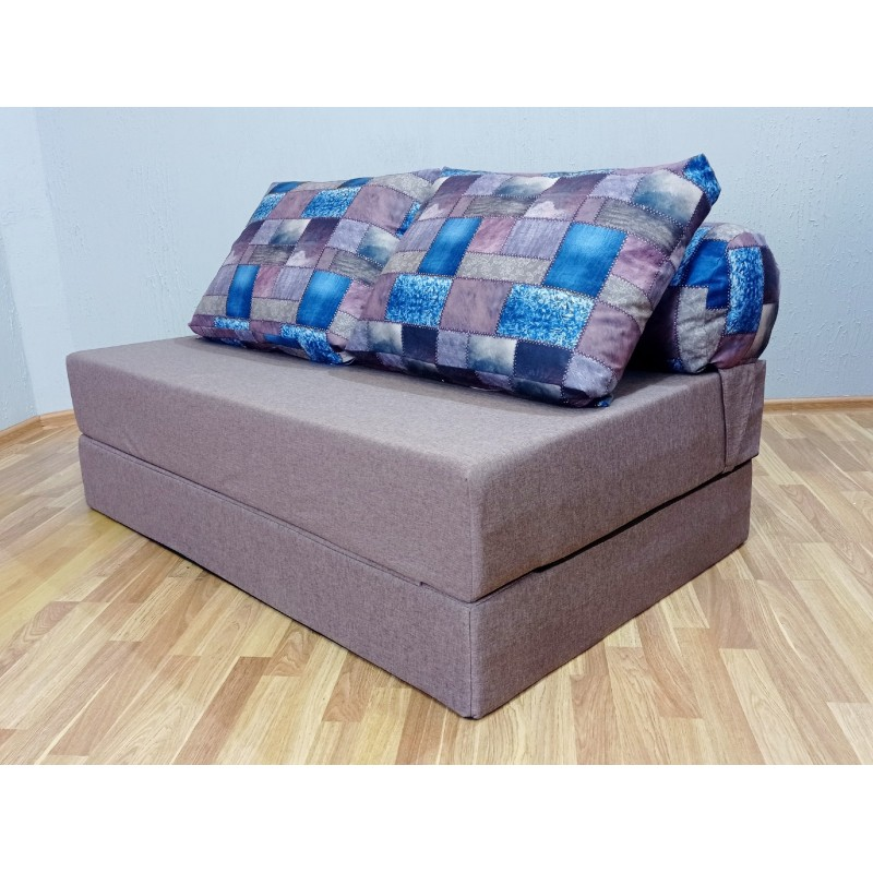 "Диван Sofa Roll Long  Long ""Лемби"" (рогожка + велюр)"