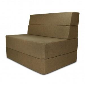 Диван трансформер Sofa Fom Бледно-коричневый (Рогожка)