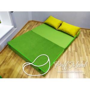 Диван трансформер Sofa Roll Long  велюр Зеленый
