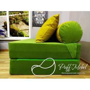 Диван трансформер Sofa Roll велюр Зеленый