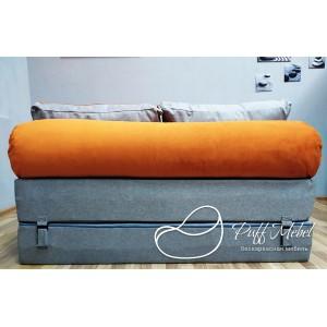 Диван трансформер Sofa Roll Рыже-фиалетовыый
