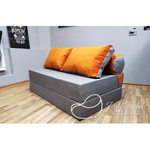 Диван трансформер Sofa Roll Long  Рыже-фиалетовыый