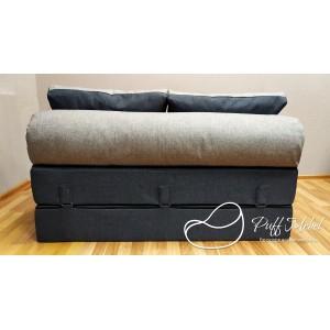 Диван-трансформер Sofa Roll Long  (Тёмно-синий + серый)