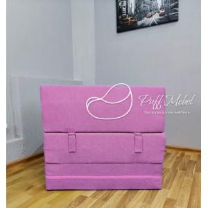 Бескаркасный диван 80х80х40, цвет сиреневый, материал Рогожка, Sofa Fom, Puffmebel