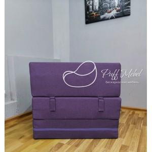 Бескаркасный диван 80х80х40, цвет тёмно-фиолетовый, материал Рогожка, Sofa Fom, Puffmebel