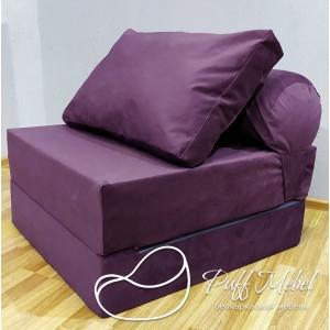 Диван-трансформер Sofa Roll  фиолетовый велюр