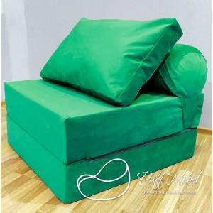 Диван-трансформер Sofa Roll  светло-зеленый велюр