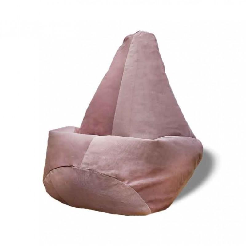 Кресло-мешок груша Бледно-розовый цвет (Велюр)