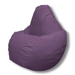 Кресло-мешок груша Фиолетовая (Рогожка)