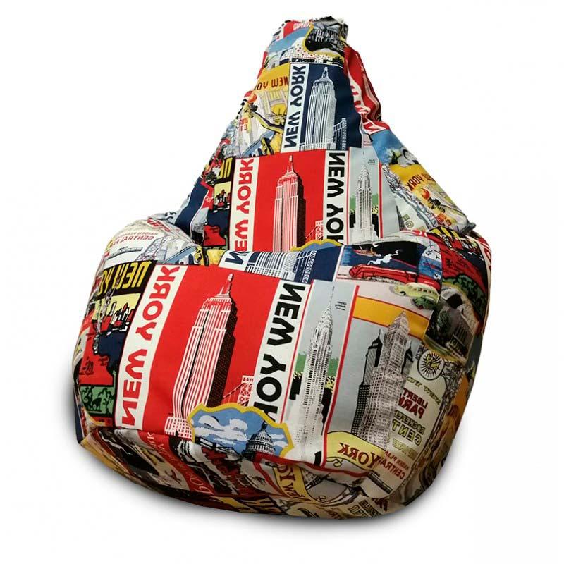 Кресло-мешок Груша Нью-Йорк (Жаккард)