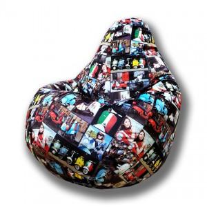 Кресло-мешок груша Скейт (Велюр)