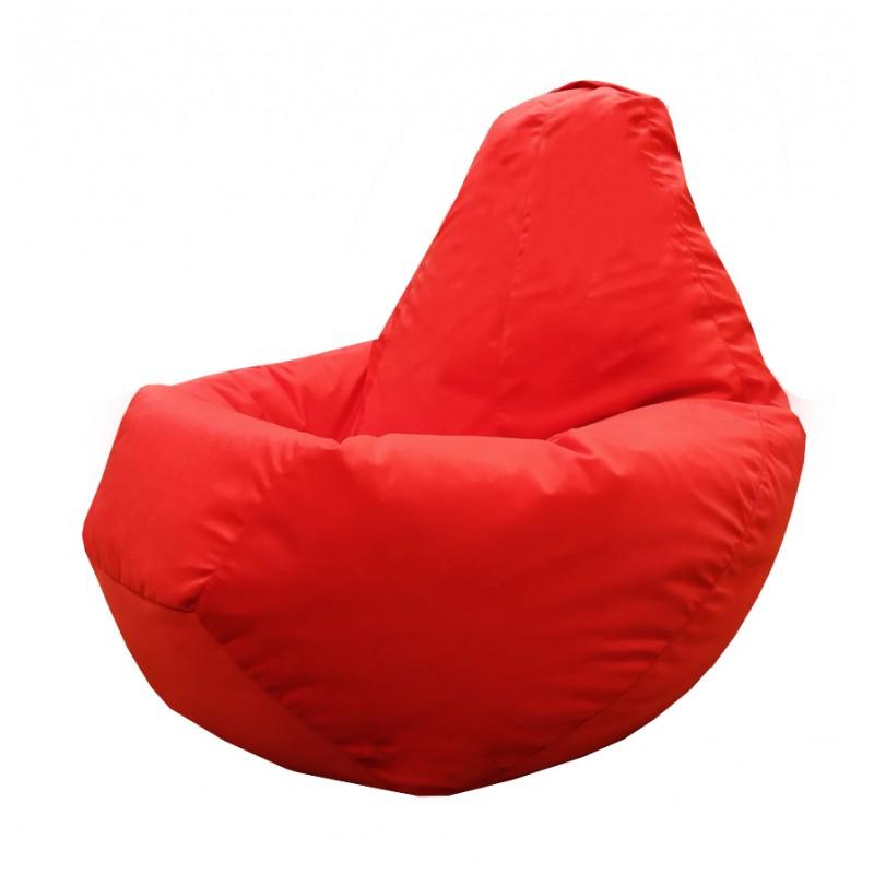 Кресло-мешок груша Красный велюр