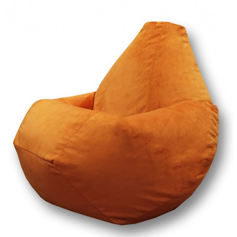Кресло-мешок груша Рыжий (Велюр)