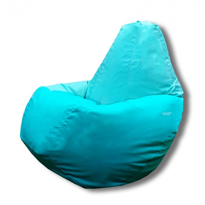 Кресло груша Голубой велюр