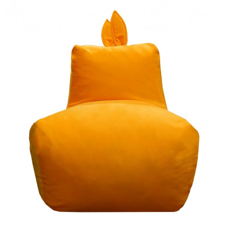 Кресло-мешок Заяц Оранжевый (Велюр)