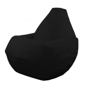 Кресло-мешок груша Черный (Велюр)