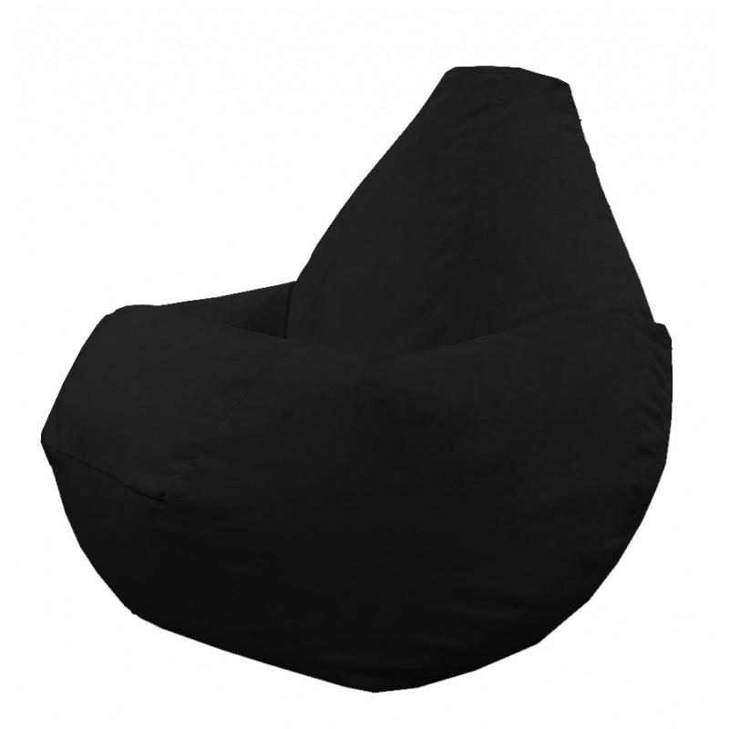 Кресло груша Черный велюр