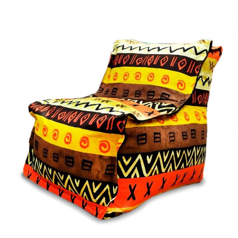 Кресло-мешок Loft с рисунком Африкан