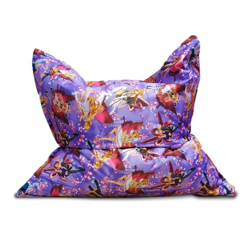 Кресло мешок Подушка Relax Феи Винкс (Рогожка)