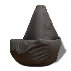 Кресло-мешок груша Тёмно-коричневый цвет (Рогожка)