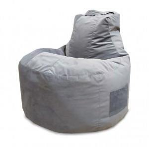 Кресло-мешок Банан, цв. Серый (Велюр)