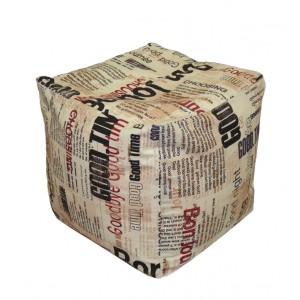 Пуф Кубик Газета ( Жаккард )