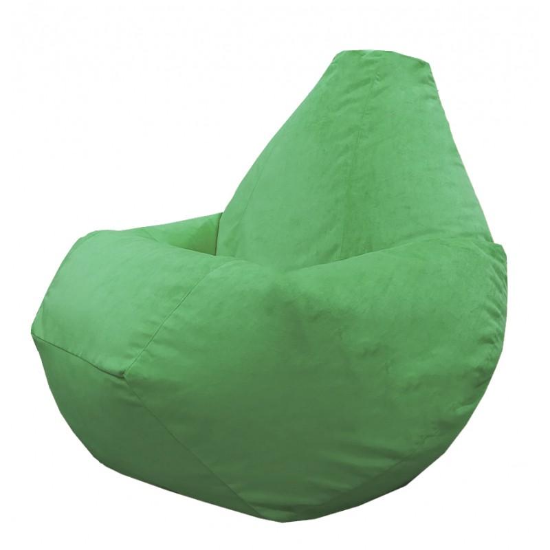 Кресло-мешок груша Зеленый велюр