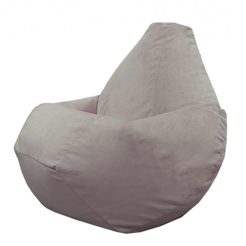 Кресло-мешок груша Светло-серый (Велюр)