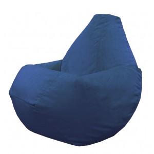 Кресло-мешок груша Синий (Велюр)