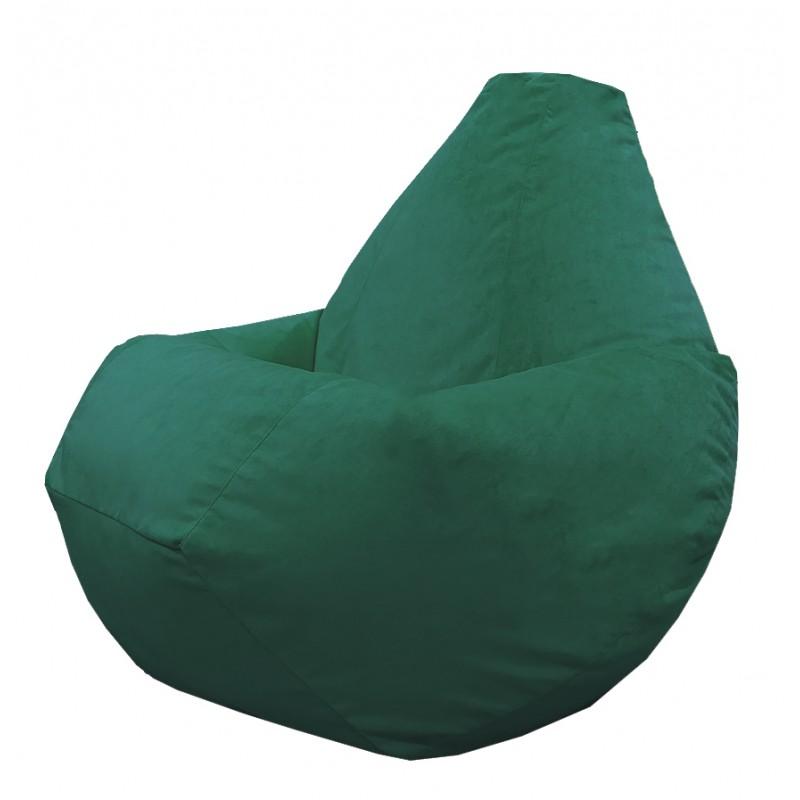 Кресло груша Темно-зеленый велюр