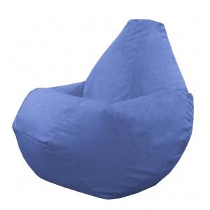 Кресло-мешок груша Светло-синий (Велюр)