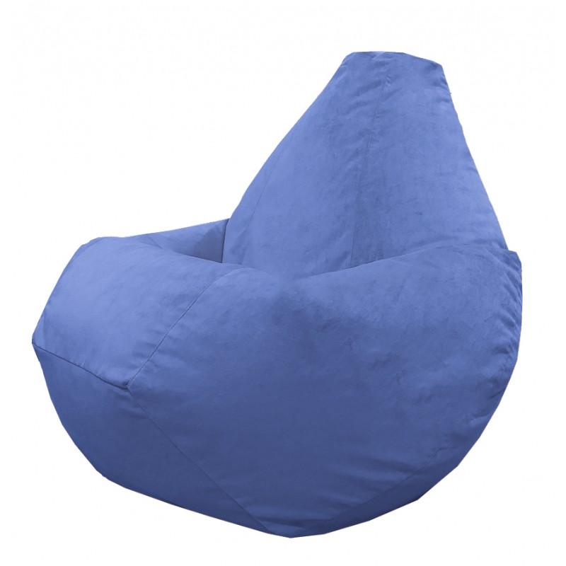 Кресло груша Светло-синий велюр