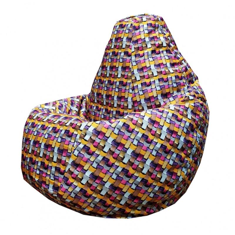Кресло-мешок груша Розовая Андорра (Рогожка)