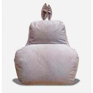Кресло-мешок Заяц Бежевый (Велюр)