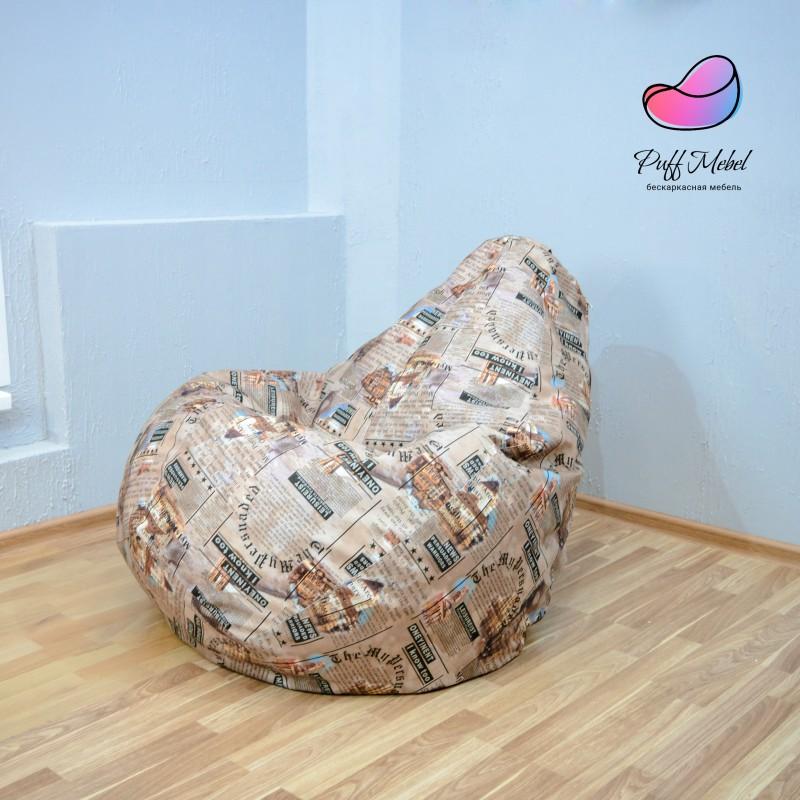 Кресло груша Велюр принтованный