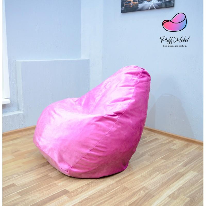 Кресло груша Розовый велюр