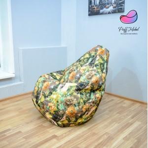 Кресло-мешок груша Город в Цветах (Рогожка)