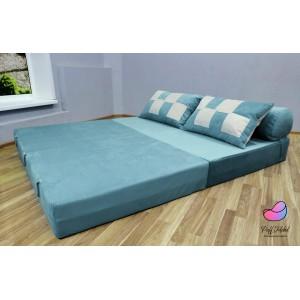 Диван трансформер Sofa Roll Long  Бирюзовый