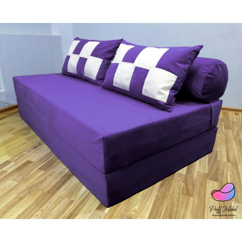 Диван трансформер Sofa Roll Long Баклажан