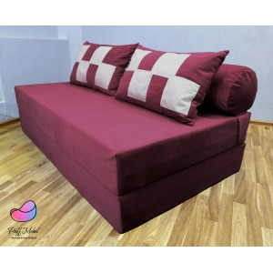Диван трансформер Sofa Roll Long  Бордовый